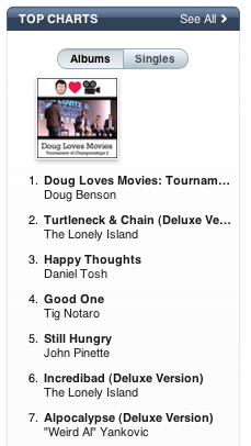 """Good One"" debuts at #4 on iTunes"